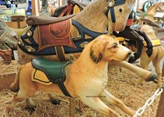 Carousel dog at Knoebels Dog-friendly amusement park