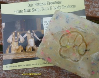 Natural goat milk dog soap dogtrotting.net