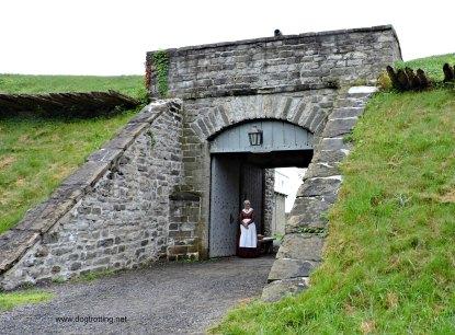 Entrance to dog-friendly Fort Wellington, Prescott, Ontario