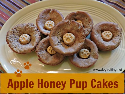 pup cakes with apple sauce