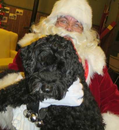 vic with santa at railway station