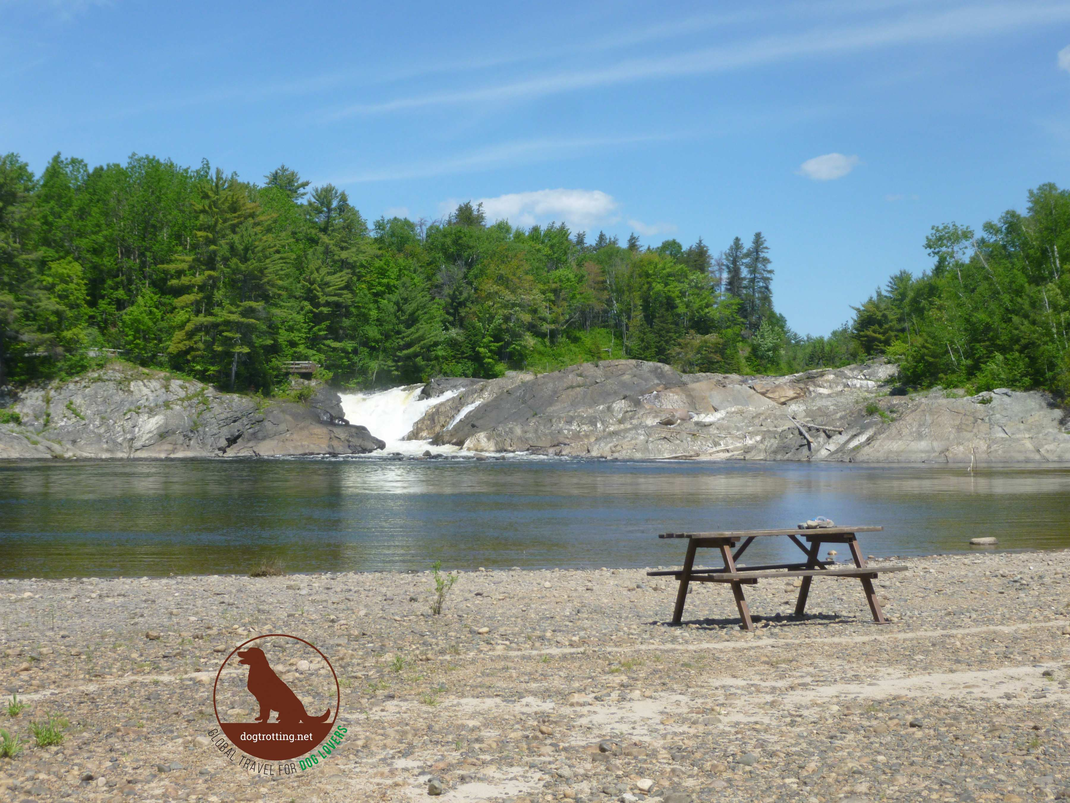 swim zone at Chutes Provincial Park, Ontario