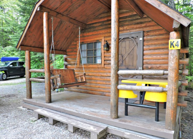 Cabin at KOA Holiday dog-friendly campground int Sault Ste. Marie Ontario
