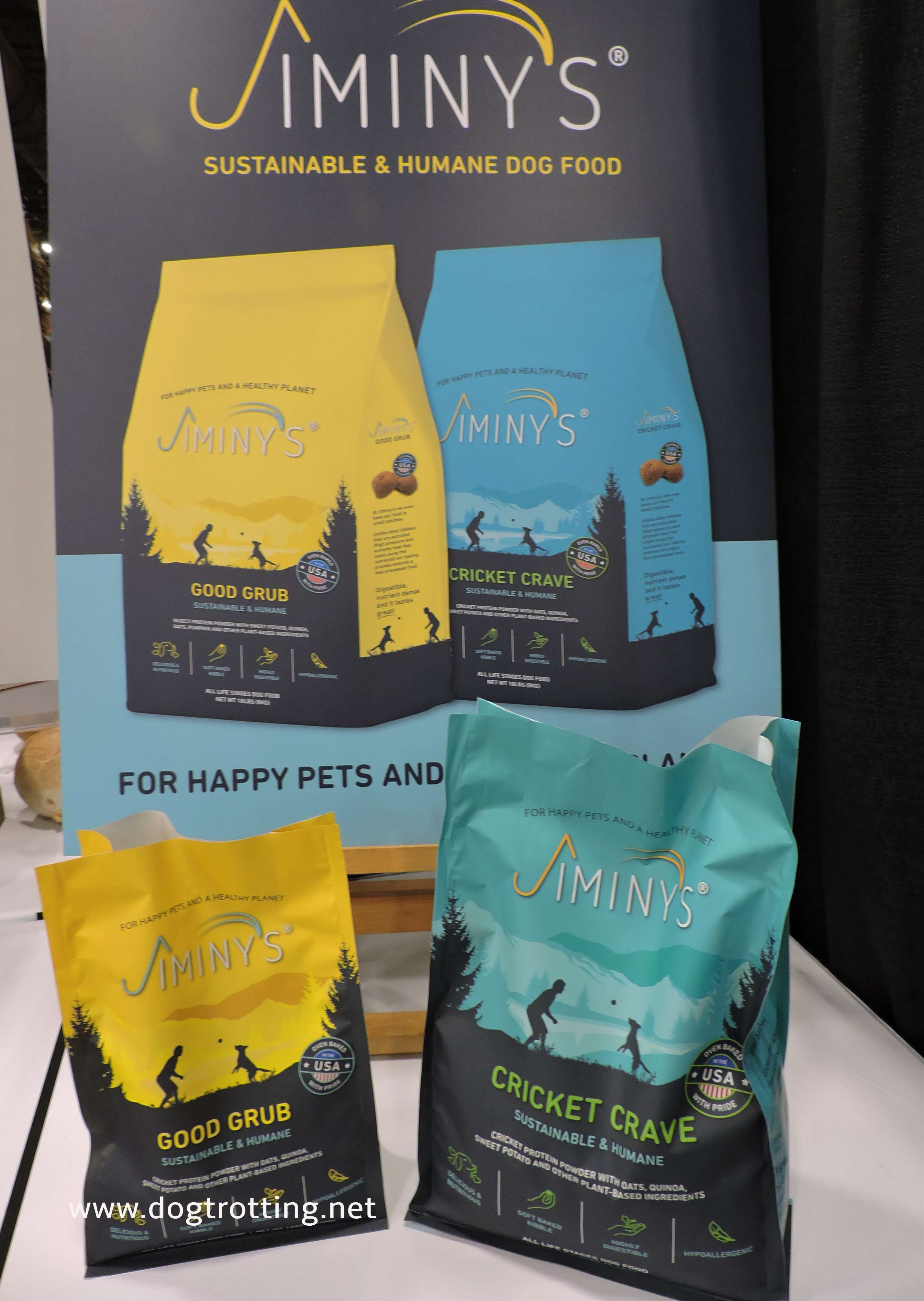 two bags of jiminy's crickets dog treats