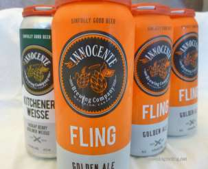 cans of Innocente beer