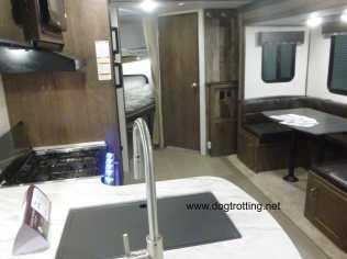 inside an RV camper