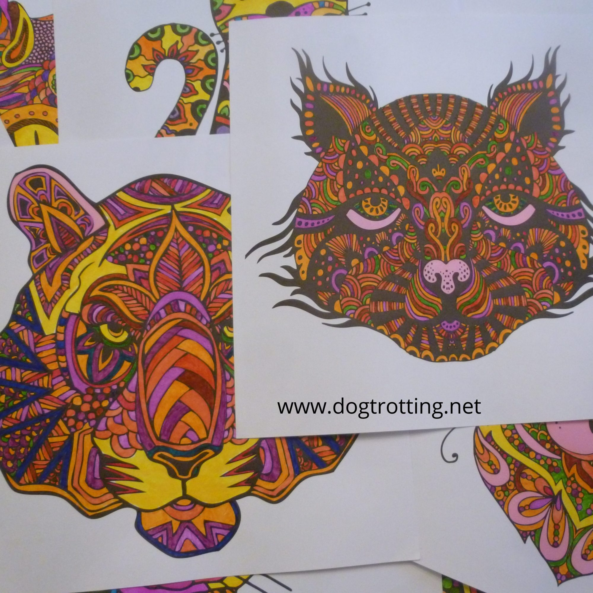 pages from colouring books