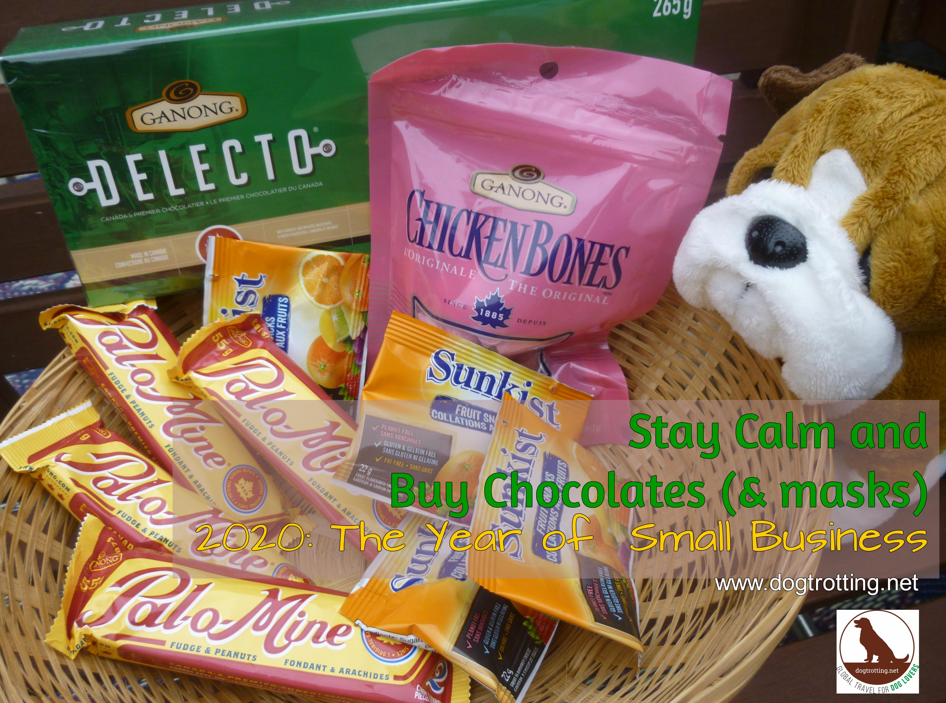basket of Ganong chocolates