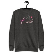 true love charcoal sweatshirt