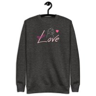 true love charcoal sweatshirt