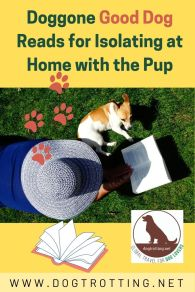 dog and woman reading - dog book reading list