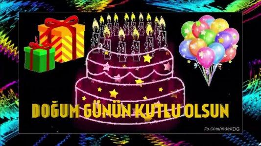 simli mum ışıklı pastalı doğum günü videosu