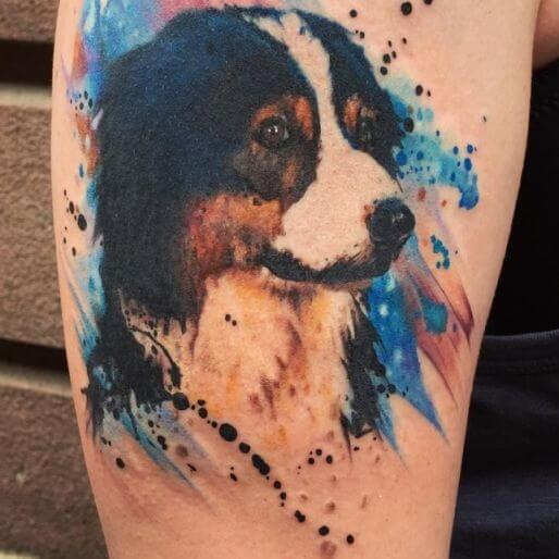 dog tattoo colour