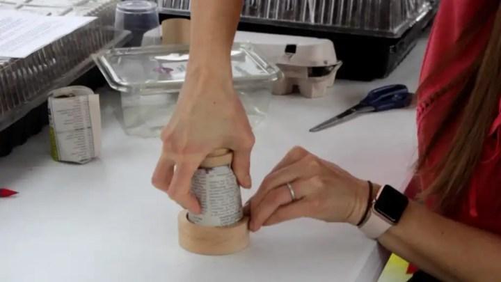 Reuse newspaper to make pots