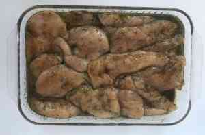 Chicken marinating to batch cook and store in the freezer.