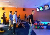 Some of our DHE Teens patiently wait to bowl