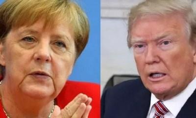 Angela Merkle,la Chancelière Allemande,de Sa Réserve, Trump