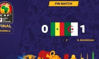 Finale ,sénégal Algérie, (0 1) , Les Fennecs ,brisent Le Rêve ,lions