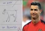 Un Anglophone ,échoue ,examen De Français, Nommé Ronaldo, Chèvre