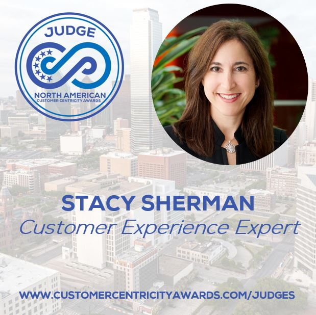 Stacy Sherman Judges at customer centricity awards in 2020