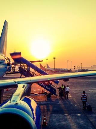 Loading onto a plane