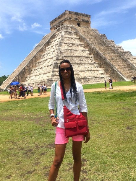 Aja experiencing freedom in Chichen Itza