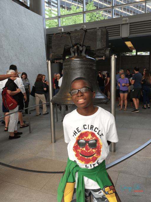 Smiling at the Liberty Bell