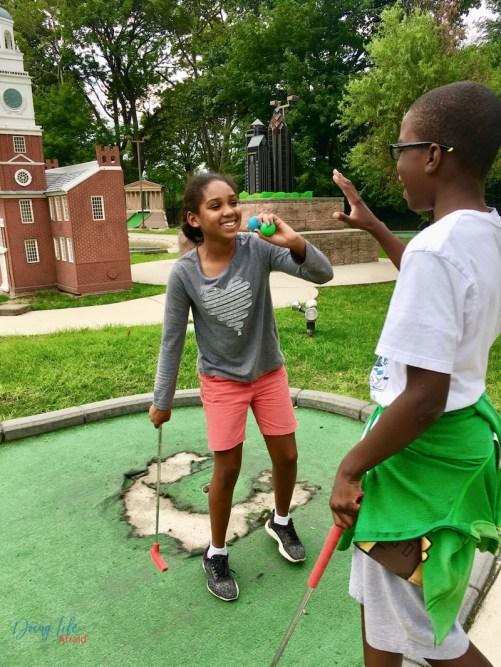 Success at mini-golf
