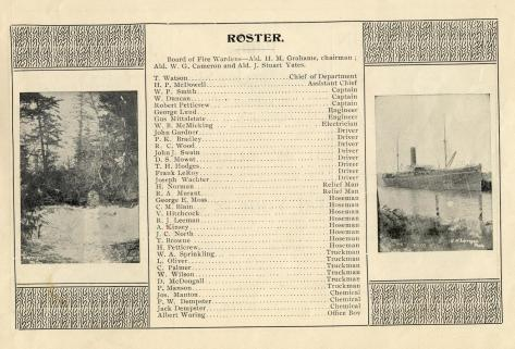1902 Victoria Fire Department Roster