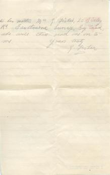 George Fisher letter, page 4