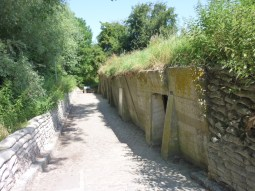 Essex Farm Bunkers. These are the medical bunkers used as the Advanced Dressing Station near the Ypres-Yser Canal.