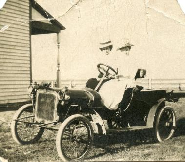 First car I ever owned, it's an Orient Buckboard. Picture taken in Rouleau in 1910