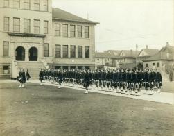 72nd Seaforth Highlanders' Cadets at Aberdeen School circa 1913