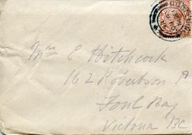 Letter dated 27 Nov 1918, cover