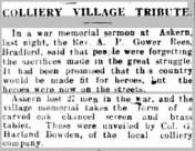 Sheffield Independent, 4 Feb 1921. Source: British Newspaper Archive