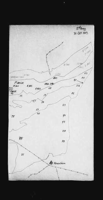 Second Army, Sketch Maps. Source: Library and Archives Canada