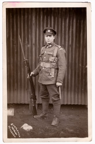 A soldier from Saskatchewan. Courtesy: M. I. Pirie collection.