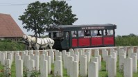 Horse-drawn visitors to Nine Elms British Cemetery