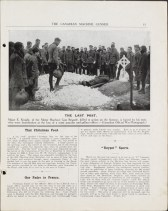 Burial of Major Knight, CMG Vol. 1 No. 10, May 1918. Source: Library and Archives Canada