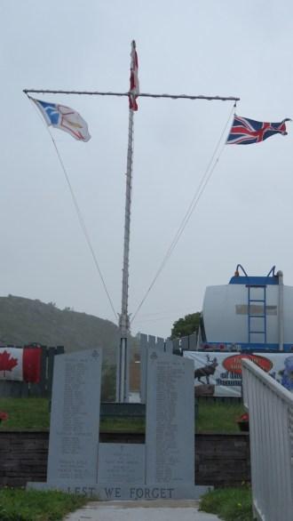 War Memorial at Petty Harbour, Newfoundland