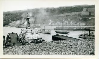 HMCS Arnprior in St. John's Harbour, June 1945