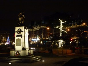 The Cenotaph with the Empress Hotel in the background