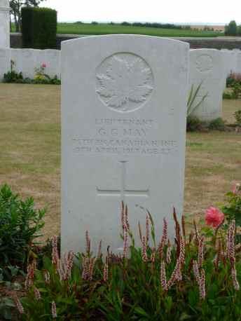 Lt. G.G. May KIA 9 April 1917