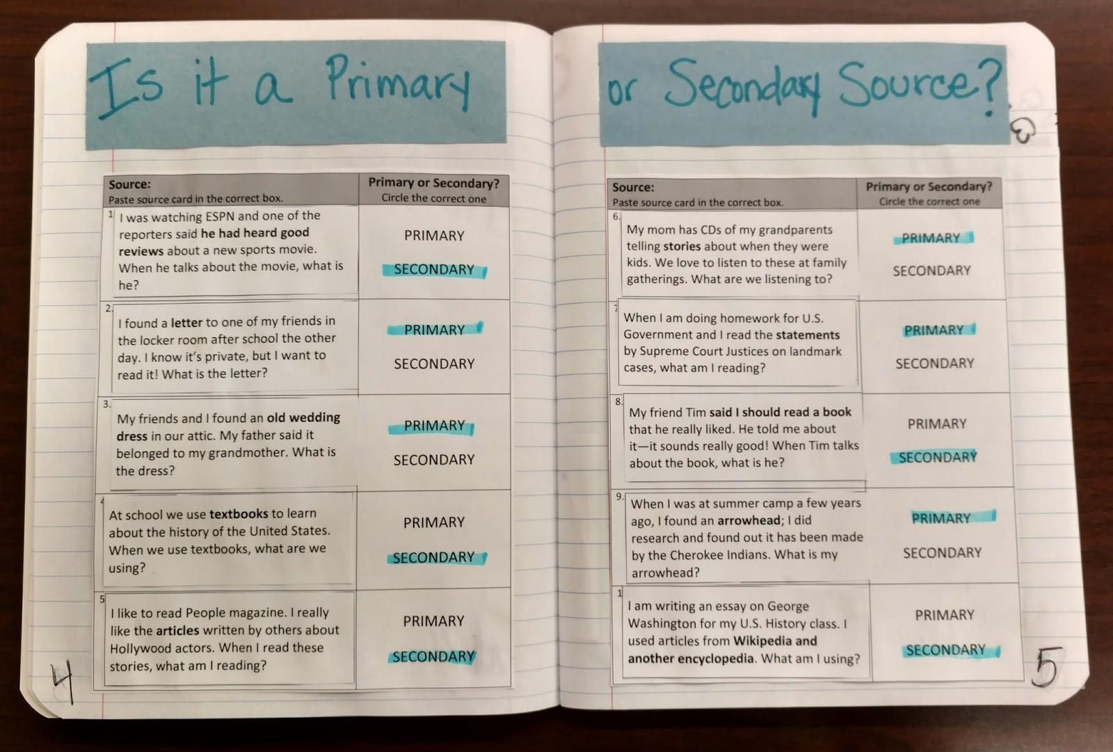 Primary Source Worksheet High School