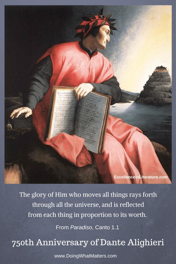 Celebrating the 750th anniversary of Dante's birth.