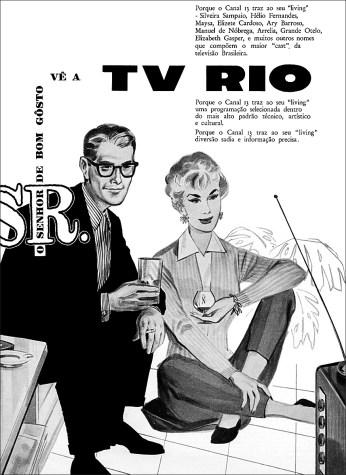 Anúncio da TV Rio.