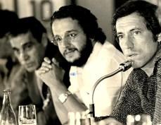 Com o treinador Cláudio Coutinho.
