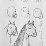 15 Horse Drawings Step By Step Easy For Beginners 2020