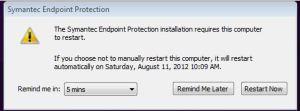 Symantec Endpoint Screenshot 1