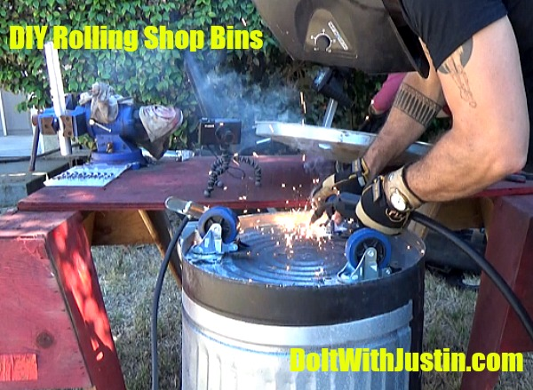 DIY rolling shop bins